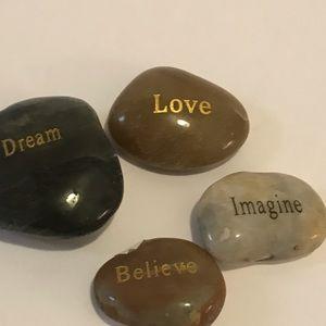 Rock with Dream, believe, love, Imagine